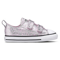 Converse Chuck Taylor All Star 2V Toddlers Shoes Pink/Silver US 4, Pink/Silver, rebel_hi-res