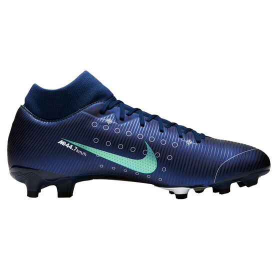 Nike Mercurial Superfly VII Academy MG Football Boots, Blue / Silver, rebel_hi-res