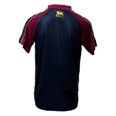 Brisbane Lions 2019 Mens Media Polo Black / Maroon S, Black / Maroon, rebel_hi-res