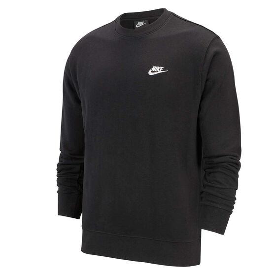 Nike Mens Sportswear Club French Terry Crew Black XL, Black, rebel_hi-res