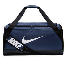 Nike Brasilia 6 Medium Duffel Bag Navy, , rebel_hi-res