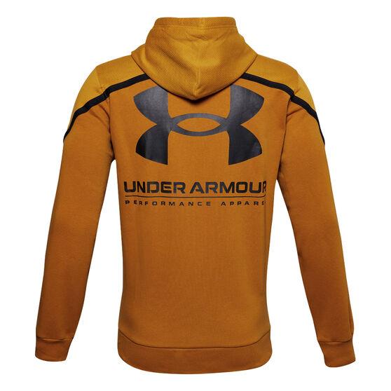 Under Armour Mens Rival Max Fleece Hoodie, Yellow, rebel_hi-res