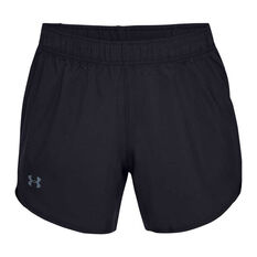 Under Armour Womens Woven Shorts, Black, rebel_hi-res