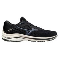 Mizuno Wave Rider 24 Mens Running Shoes, Black, rebel_hi-res
