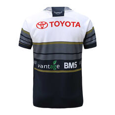 North Queensland Cowboys 2020 Kids Away Jersey Navy / White 6, Navy / White, rebel_hi-res