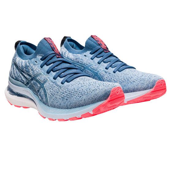 Asics GEL Kayano 28 Knit Womens Running Shoes, Blue, rebel_hi-res