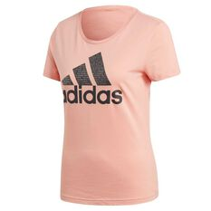 adidas Womens Foil Badge Of Sport Tee Pink XS Adult, Pink, rebel_hi-res