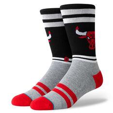 Stance Mens Chicago Bulls City Gym Socks Black / Red M, Black / Red, rebel_hi-res