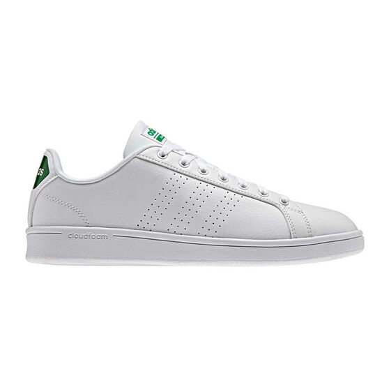 966544895 adidas Cloudfoam Advantage Clean Mens Casual Shoes White / Green US 10,  White / Green