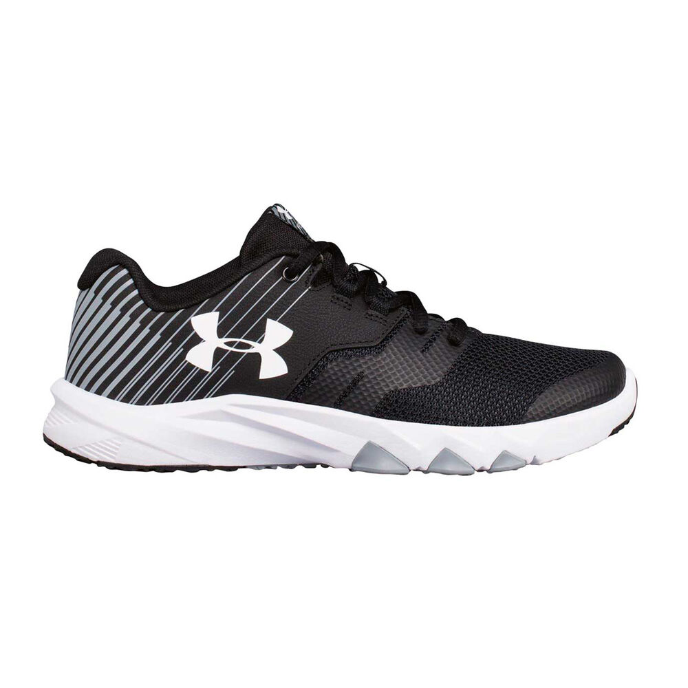 315f5f0581 Under Armour Primed 2 Boys Running Shoes Black / White US 4