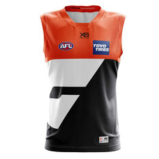 GWS Giants 2019 Mens Replica Home Guernsey Orange / Black S, Orange / Black, rebel_hi-res