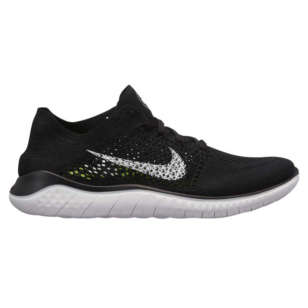 the best attitude 891e8 cc16c Nike Free RN Flyknit 2018 Mens Running Shoes Black   White US 13, Black