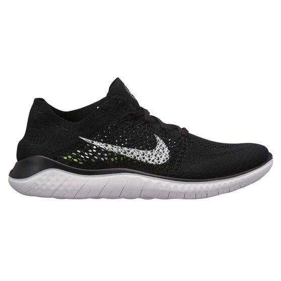 another chance cf00e 6e341 Nike Free RN Flyknit 2018 Mens Running Shoes Black   White US 8, Black