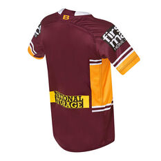 Brisbane Broncos 2019 Kids Home Jersey Maroon / Yellow 8, Maroon / Yellow, rebel_hi-res