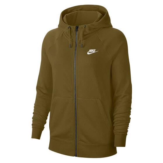 Nike Womens Sportswear Essentials Full Zip Hoodie, Olive, rebel_hi-res