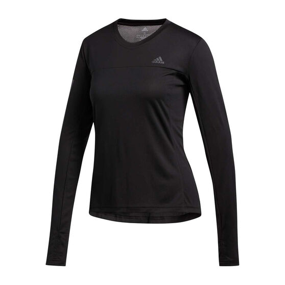 adidas Womens Own the Run Top, Black, rebel_hi-res