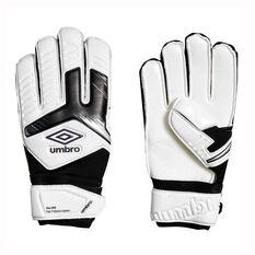 Umbro Neo Precision Digit Protection Kids Goalkeeping Gloves White / Purple 4, White / Purple, rebel_hi-res