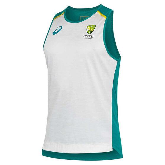 Cricket Australia 2020/21 Mens Training Singlet, Grey, rebel_hi-res