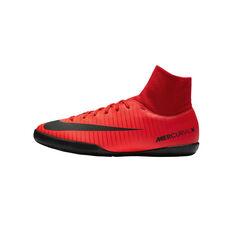 Nike MercurialX Victory 6 DF Junior Indoor Soccer Shoes Red / Black US 1, Red / Black, rebel_hi-res