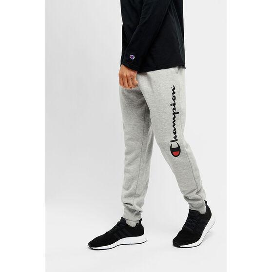 Champion Mens Script Cuff Pants, Grey, rebel_hi-res