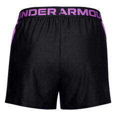 Under Armour Womens UA Play Up Slit Shorts Black XS, Black, rebel_hi-res