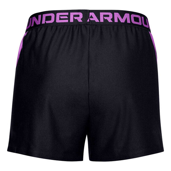 Under Armour Womens UA Play Up Slit Shorts, Black, rebel_hi-res