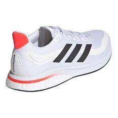 adidas Supernova Mens Running Shoes, White/Black, rebel_hi-res