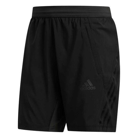 adidas Mens Aeroready 3 Stripe Shorts, Black, rebel_hi-res