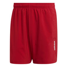 adidas Mens Essentials Plain Chelsea Shorts Red XS, Red, rebel_hi-res
