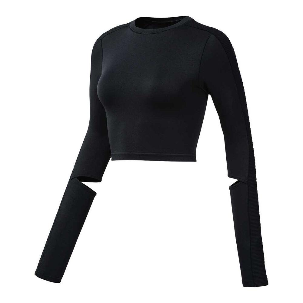 060614e053c Reebok Womens Cropped Long Sleeve Top, , rebel_hi-res