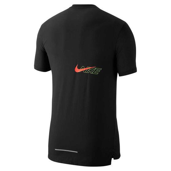Nike Mens Breathe Rise 365 Running Tee, Black, rebel_hi-res