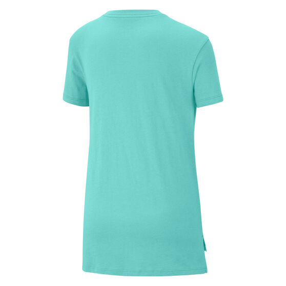 Nike Girls Sportswear DPTL Basic Futura Tee, Green, rebel_hi-res