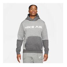 Nike Mens Air Pullover Hoodie Grey XS, Grey, rebel_hi-res