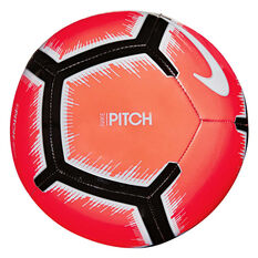 Nike Pitch FA 18 Soccer Ball Red 3, Red, rebel_hi-res
