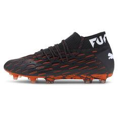 Puma Future 6.1 Netfit Football Boots Black/Orange US Mens 7 / Womens 8.5, Black/Orange, rebel_hi-res