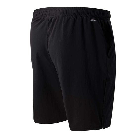 New Balance Mens Tenacity 9in Woven Shorts, Black, rebel_hi-res