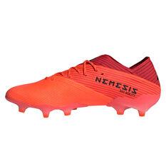 adidas Nemeziz 19.1 Football Boots Coral/Black US Mens 7 / Womens 8, Coral/Black, rebel_hi-res