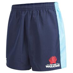 NSW Waratahs 2018 Mens Tactic Shorts Navy S, Navy, rebel_hi-res