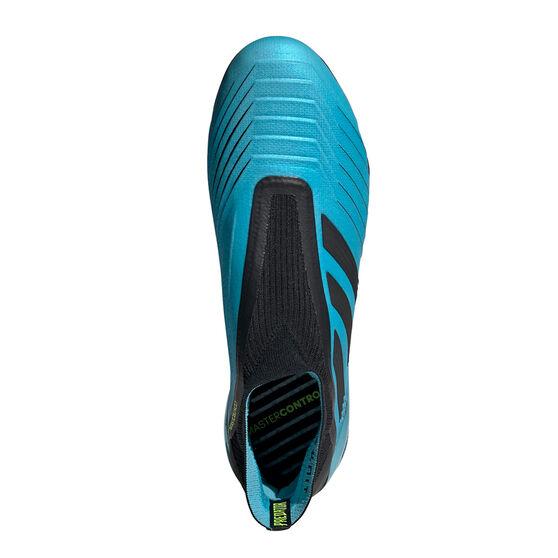 adidas Predator 19+ Football Boots, Blue / Black, rebel_hi-res