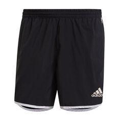 adidas Mens Marathon 20 Primeblue Shorts Black XS, Black, rebel_hi-res