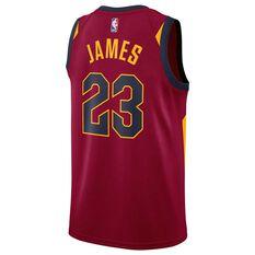Nike Mens Cleveland Cavaliers LeBron James 2018 Swingman Jersey Team Red S, Team Red, rebel_hi-res