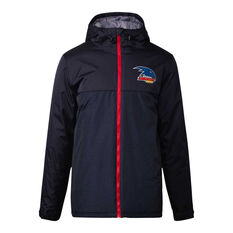 Adelaide Crows 2021 Mens Retro Stadium Jacket Black S, Black, rebel_hi-res
