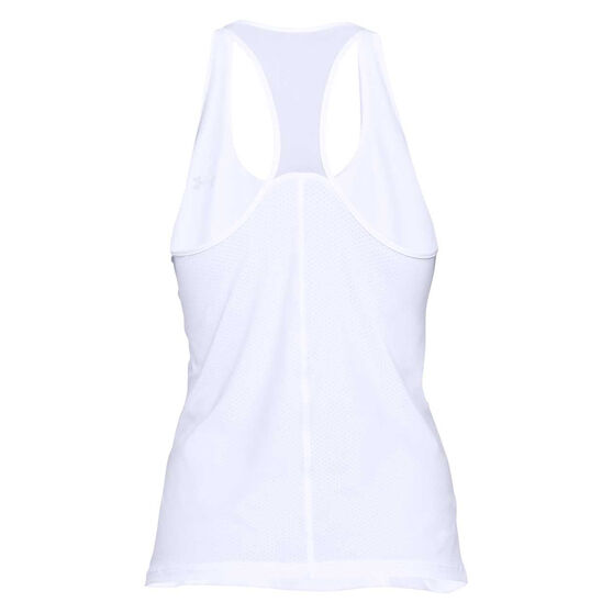 Under Armour Womens HeatGear Racer Tank, White, rebel_hi-res