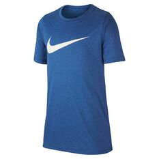 Nike Dri-FIT Boys Swoosh Training Tee, Royal Blue / White, rebel_hi-res