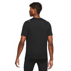 Nike Mens Dri-Fit Rise 365 SS Tee Black S, Black, rebel_hi-res