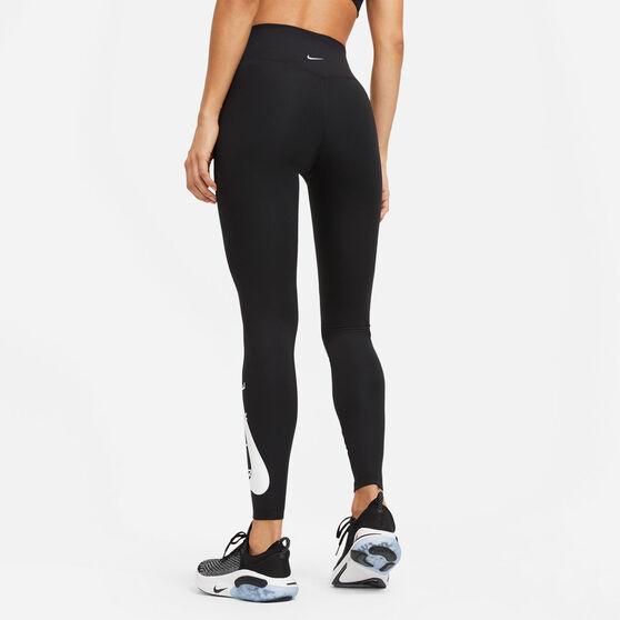 Nike Womens Swoosh Run Tights, Black, rebel_hi-res