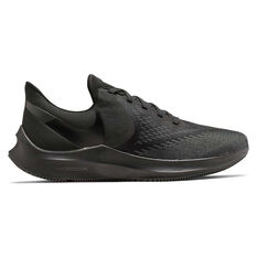Nike Air Zoom Winflo 6 Mens Running Shoes Black US 7, Black, rebel_hi-res