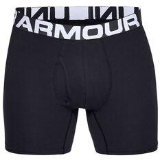 Under Armour Mens Charged Cotton Boxerjocks 3 Pack Black S, Black, rebel_hi-res