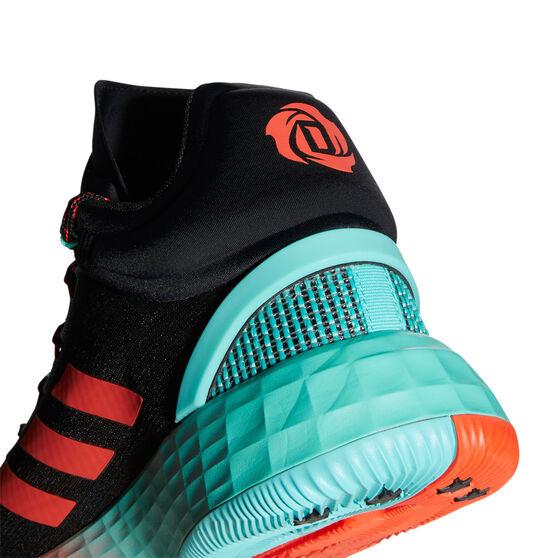 adidas D Rose 11 Basketball Shoes, Black/Red, rebel_hi-res