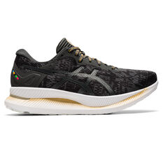Asics Glideride EDO Era Womens Running Shoes Black/Grey US 7, Black/Grey, rebel_hi-res